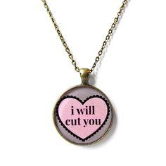 I+will+cut+you.+Rude+Conversation+Heart+Bronze+by+SnarkFactory,+$15.00