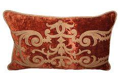 Pillow w/ 19th-C.    French Velvet on OneKingsLane.com
