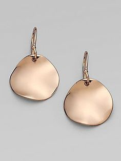 Cool Ippolita Rosé Wavy Earrings Diamond Rose Gold Drop Sterling Silver
