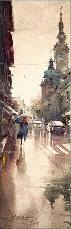 by Dusan Djukaric - watercolours