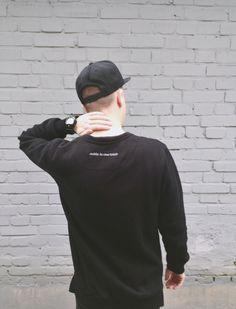 monsieur sweatshirt from backstage backstg.com black sweatshirt men outfit