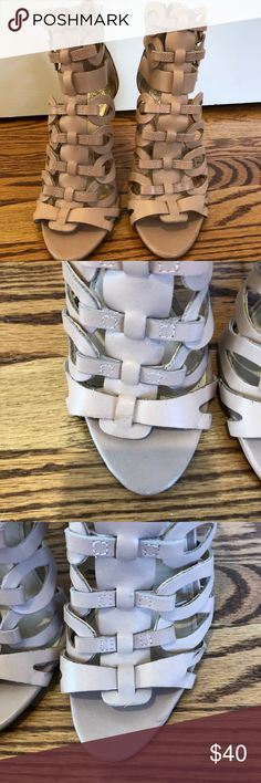 """Vince Camuto Heels Light pink/blush """"gladiator"""" style heels. Worn once to a wedding. I found that my toes didn't fit as well as I would have hoped. Was not the most comfortable for me but looks great. Vince Camuto Shoes Heels"""