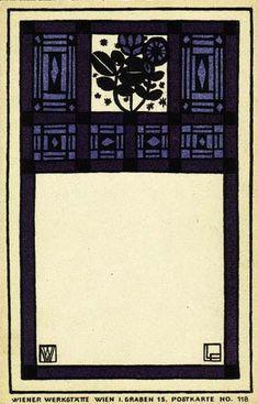 Wiener Werkstätte postcard no. 118, by Franz Lebisch, ca 1908.