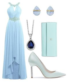 """""""Daughter of Poseidon: Formal"""" by reneeleung on Polyvore featuring Melissa Joy Manning, BillyTheTree and Kate Spade"""