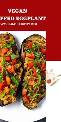 Vegan Stuffed Eggplant with onion, garlic, tomatoes, and fresh basil then topped with vegan cheese is a simple yet flavorful meatless dish. Beads Making, Stuffed Eggplant, Best Dinner Recipes, Green Life, Fresh Basil, Vegan Cheese, Going Vegan, Vegan Gluten Free, Healthy Eats