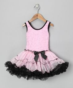 {Pink & Black Sequin Ruffle Dress - Toddler & Girls by Popatu} My daughter would love this.