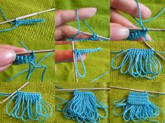 Cool fringe technique. #crochet