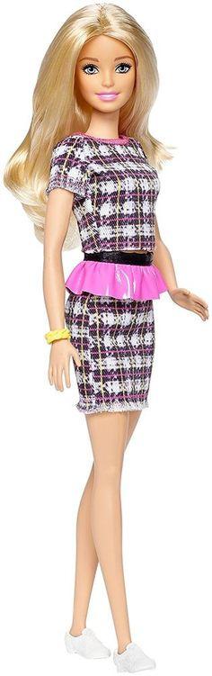 SHIRT Barbie 2016 Fashionistas Plaid On Plaid 52 Evolution Red Blue Short Sleeve