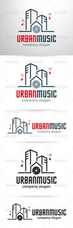 Urban Music Logo Template — Photoshop PSD #record label #design • Available here → https://graphicriver.net/item/urban-music-logo-template/7308698?ref=pxcr