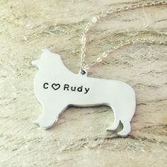 border collie dog necklace dog pendant by Handmadenamenecklace