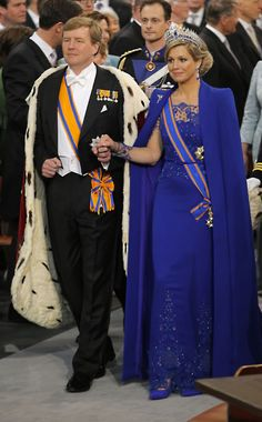 new dutch queen maxima - she looks amazing! and the new king too.