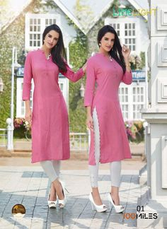 Best 12 Simple And Elegant Looking Designer Readymade Kurti Is Here In White Color Fabricated On Satin Cotton. It Has Pretty Colored Thread – SkillOfKing. Pakistani Dress Design, Pakistani Dresses, Indian Dresses, Indian Outfits, Salwar Designs, Blouse Designs, Kurti Styles, Indian Designer Suits, Indian Fashion