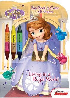 Disney Junior Sofia the First Living in a Royal World Shaped Fun Book to Color with Crayons >>> Find out more about the great product at the image link. Note:It is Affiliate Link to Amazon.
