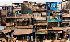 Dharavi slums (India) shanty town bottom of page decollage on top Dbz, Shanty Chic, Bombay, Global Village, Gcse Art, Slums, Built Environment, Abandoned Places, Hong Kong