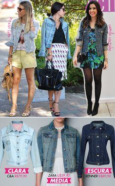 jaqueta, jeans, jacket, clara, média, escura, nati vozza, camila coutinho, dica, look, onde comprar, short, saia, vestido, renner, C&A, zara