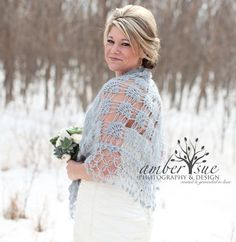 Bridal Shrug Shawl Bolero /Crochet Shawl // Bridal by MODAcrochet, $82.00