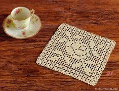 Crochet Motif Filet Crochet. Diagram only.  ☀CQ #crochet #crafts #DIY