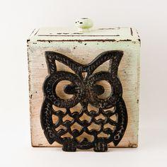Vintage Owl Pot Holder Housewares, Home Decor, Retro Owl, Kitchen Decor,  Kitchenware