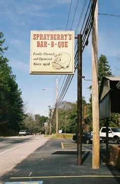 """Sprayberry's Bar-B-Que - *Jackson Street, Newnan, Georgia*""  