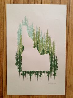 Idahoans and Idaho-lovers rejoice with this beautiful Idaho print! Its beautiful both framed or hung as a poster. This silhouetted Idaho print