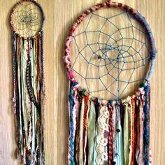 Bohemian Spirit Vintage Fabric Dreamcatcher.