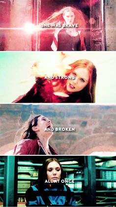She was brave and strong and broken all at once. #marvel
