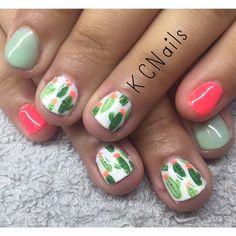 Cactus themed gel polish