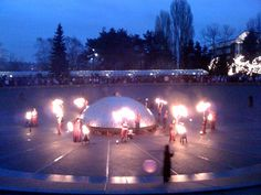 Winter Solstice fire festival at the seattle center.