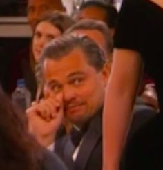 And then this look. | Leonardo DiCaprio's Face When Lady Gaga Walked By Him To Accept Her Award Is Everything