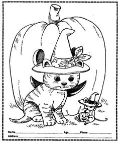 Looking for Halloween coloring pages for your kids or adult to have competition or just have fun on the holiday. Fall Coloring Pages, Cat Coloring Page, Adult Coloring Pages, Coloring Pages For Kids, Coloring Books, Easy Halloween Crafts, Halloween Cat, Halloween Coloring Sheets, Halloween Coloring Pictures