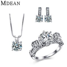 Check current price MDEAN White Gold Color Jewelry Sets For Women Wedding Jewelry Engagement Fashion Accessories vintage AAA Zircon jewelry sets just only $7.83 with free shipping worldwide  #weddingengagementjewelry Plese click on picture to see our special price for you