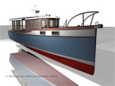 Plans for Boat Building Old Boats, Small Boats, Boat Props, Hull House, Motor Cruiser, Lobster Boat, Classic Wooden Boats, Deck Boat, Classic Motors