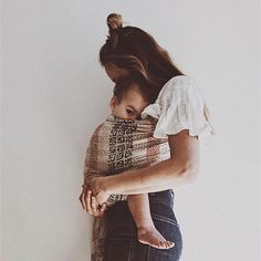 """""""She made broken look beautiful and strong look invincible. She walked with the universe on her shoulders and made it look like a pair of wings. off all carriers through October BABYWEAR. Cute Kids, Cute Babies, Baby Kids, Cute Family, Family Goals, Little People, Little Ones, Future Mom, Mommy And Me"""