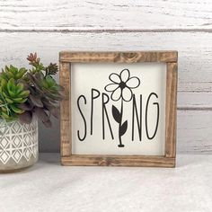 Spring Wood Signs - Spring Farmhouse Sign - Spring Decor - Rustic Spring Decor - Farmhouse Signs - Easter Farmhouse Decor - Easter Signs in 2020 Rustic Wood Signs, Wooden Signs, Rustic Decor, Wooden Decor, Home Wood Sign, Love Wooden Sign, Wood Signs Home Decor, Spring Home Decor, Diy Home Decor