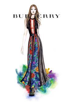 #Burberry fw16 #LFW #Graciano