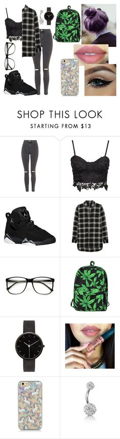 """""""001 MaryJane"""" by nikkyvanderoer ❤ liked on Polyvore featuring Topshop, Madewell, Motel, I Love Ugly, Bling Jewelry, women's clothing, women, female, woman and misses"""