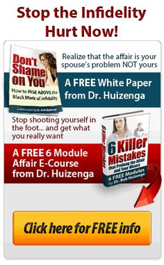 Dr. Huizenga answers your Top 12 Affair Recovery Questions  Listen to Dr. Huizenga as he respondsto Crucial Infidelity Questions:  Is it a bigger problem when an affair happens early in a committed relationship or marriage compared to an affair that happens in a fairly longer marriage? List of dos and don'ts for a betrayed spouse. How does the betrayed spouse deal with an angry cheater? Should I force a decision? Why won't the wayward spouse work on the marriage after the affair? Why is the…