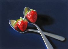 Nance Danforth. Spoons with Strawberries