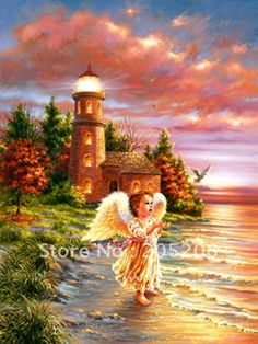 angels among us. Angels Among Us, Angels And Demons, Thomas Kinkade Art, Kinkade Paintings, Thomas Kincaid, Art Thomas, I Believe In Angels, Angel Pictures, Angels In Heaven
