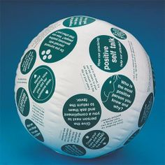 "Toss 'N Talk-About Positive Attitude Ball by S Worldwide. $14.99. Inspiring 24"" conversation ball is covered in quotes, questions and words to live by like, ""Name 1 special or unique talent that you have,"" ""What does 'Turning the other cheek' mean to you? and ""If you change the way you look at things, the things you look at change."" Lead conversations about personal feelings, common frustrations and tactics to adopt a more positive attitude. Perfect for one-on..."