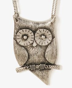 Perched Owl Necklace   FOREVER21 - 1030187499