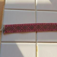 Bracelet rose corail et argent