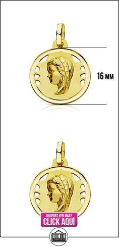 Medalla Virgen niña bisel 18 Ktes  ✿ Joyas para niñas - Regalos ✿ ▬► Ver oferta: https://comprar.io/goto/B01MXDGVIW
