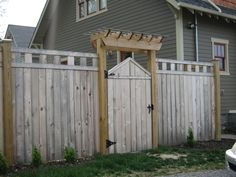 Open top fence, gate with arbor. Nashville