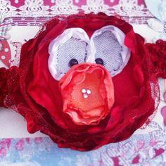 Elegant Elmo Headband - Perfect for birthday parties! Sesame street or Elmo theme!
