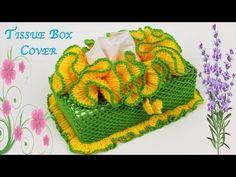 Crochet & Knitting Tutorial (Tissue Box Cover) [Part Tissue Box Covers, Tissue Boxes, Tissue Holders, Crochet Hair Accessories, Crochet Hair Styles, Crochet Purses, Crochet Hats, Crochet Towel Holders, Crochet Home Decor