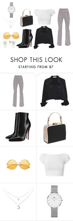 """""""ootd"""" by carolinecorradine on Polyvore featuring Christian Louboutin, Helmut Lang, Daniel Wellington, StreetStyle and ootd"""