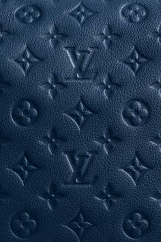 ... Blue Leather Louis Vuitton Patterns Wallpaper - Free iPhone Wallpapers