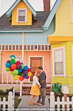 Disney Up Engagement photoshoot. Where can I find a house like this?!