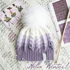 Loom Knitting Patterns, Knitting Stitches, Knitting Projects, Baby Knitting, Crochet Baby Hats, Knitted Hats, Knit Crochet, Cable Knit Hat, Knit Beanie Hat